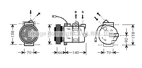 Compresseur AVA QUALITY COOLING AIAK150 (X1)