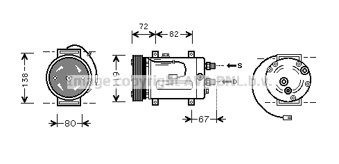 Compresseur AVA QUALITY COOLING AIAK177 (X1)