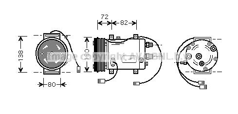 Compresseur AVA QUALITY COOLING AIAK179 (X1)