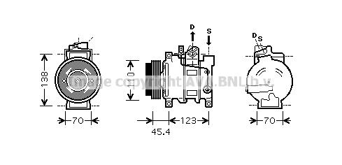 Compresseur AVA QUALITY COOLING AIAK227 (X1)