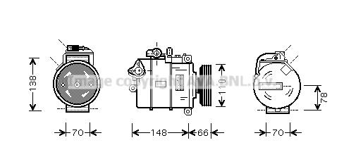 Compresseur AVA QUALITY COOLING AIAK247 (X1)