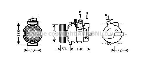 Compresseur AVA QUALITY COOLING AIAK262 (X1)