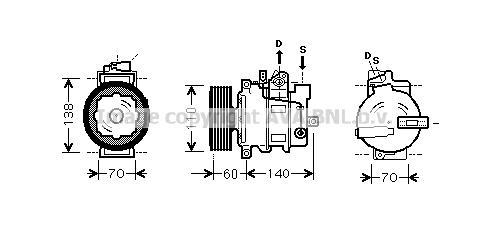 Compresseur AVA QUALITY COOLING AIAK269 (X1)