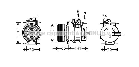Compresseur AVA QUALITY COOLING AIAK271 (X1)