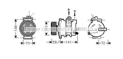 Compresseur AVA QUALITY COOLING AIAK279 (X1)