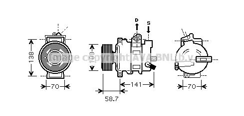 Compresseur AVA QUALITY COOLING AIAK287 (X1)