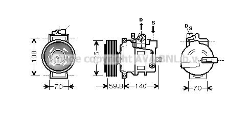 Compresseur AVA QUALITY COOLING AIAK295 (X1)