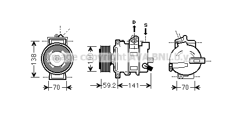 Compresseur AVA QUALITY COOLING AIAK329 (X1)