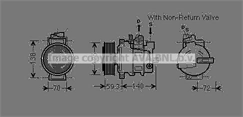 Compresseur AVA QUALITY COOLING AIAK330 (X1)
