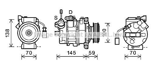Compresseur AVA QUALITY COOLING AIAK342 (X1)