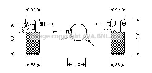 Bouteille deshydratante AVA QUALITY COOLING AID012 (X1)