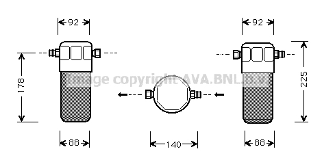 Bouteille deshydratante AVA QUALITY COOLING AID154 (X1)