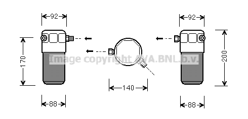 Bouteille deshydratante AVA QUALITY COOLING AID303 (X1)