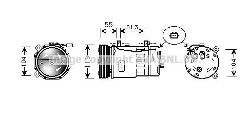 Compresseur AVA QUALITY COOLING AIK001 (X1)