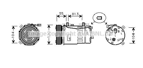 Compresseur AVA QUALITY COOLING AIK003 (X1)