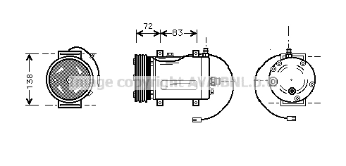 Compresseur AVA QUALITY COOLING AIK144 (X1)