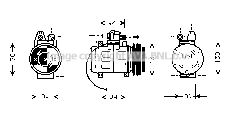 Compresseur AVA QUALITY COOLING AIK180 (X1)