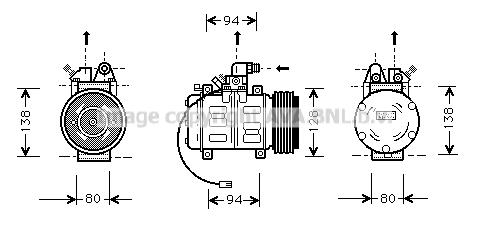 Compresseur AVA QUALITY COOLING AIK182 (X1)