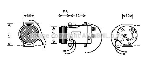 Compresseur AVA QUALITY COOLING AIK255 (X1)