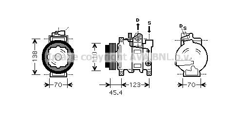 Compresseur AVA QUALITY COOLING AIK261 (X1)