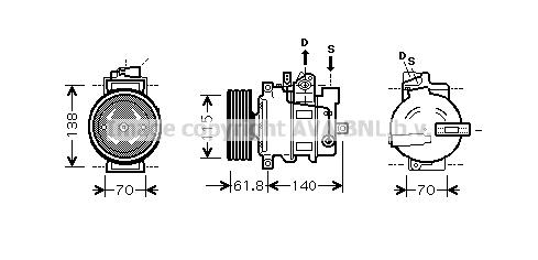 Compresseur AVA QUALITY COOLING AIK263 (X1)