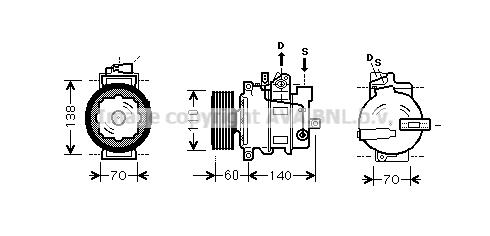 Compresseur AVA QUALITY COOLING AIK266 (X1)