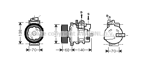 Compresseur AVA QUALITY COOLING AIK272 (X1)
