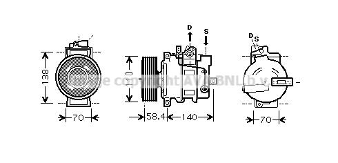 Compresseur AVA QUALITY COOLING AIK274 (X1)