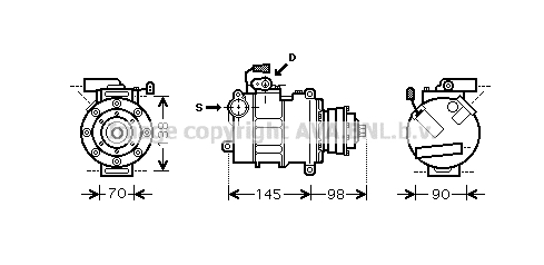 Compresseur AVA QUALITY COOLING AIK280 (X1)