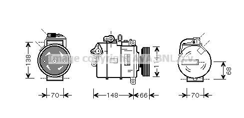 Compresseur AVA QUALITY COOLING AIK282 (X1)