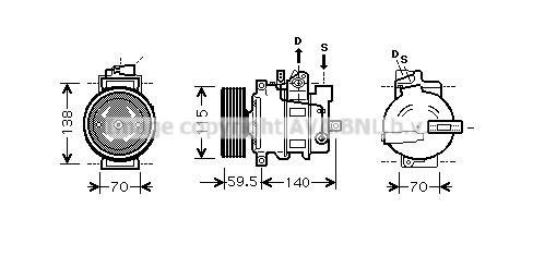 Compresseur AVA QUALITY COOLING AIK284 (X1)