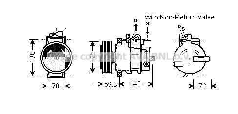 Compresseur AVA QUALITY COOLING AIK330 (X1)