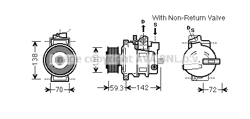 Compresseur AVA QUALITY COOLING AIK334 (X1)
