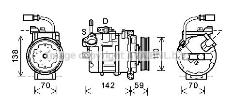 Compresseur AVA QUALITY COOLING AIK340 (X1)