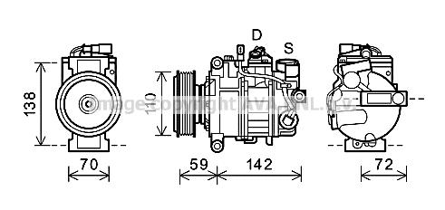 Compresseur AVA QUALITY COOLING AIK341 (X1)