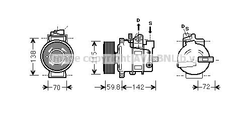 Compresseur AVA QUALITY COOLING AIK343 (X1)