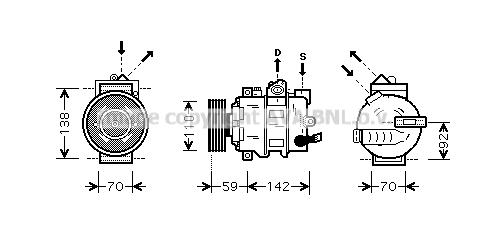 Compresseur AVA QUALITY COOLING AIK349 (X1)