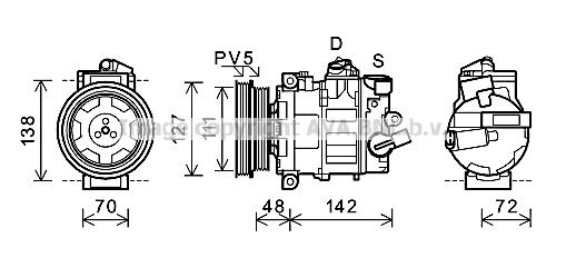 Compresseur AVA QUALITY COOLING AIK359 (X1)