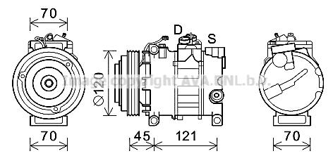 Compresseur AVA QUALITY COOLING AIK379 (X1)