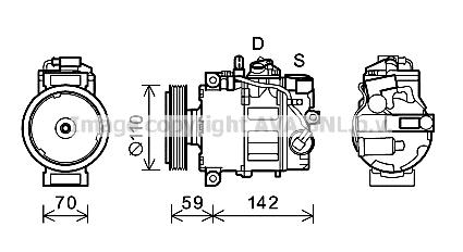 Compresseur AVA QUALITY COOLING AIK380 (X1)