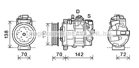 Compresseur AVA QUALITY COOLING AIK381 (X1)