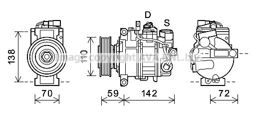 Compresseur AVA QUALITY COOLING AIK396 (X1)