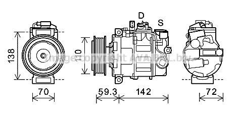Compresseur AVA QUALITY COOLING AIK398 (X1)