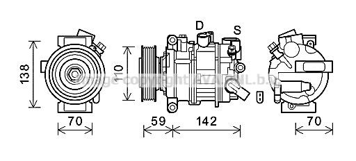 Compresseur AVA QUALITY COOLING AIK401 (X1)