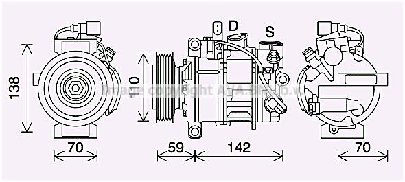 Compresseur AVA QUALITY COOLING AIK410 (X1)