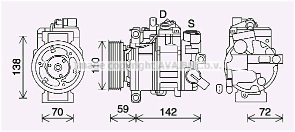 Compresseur AVA QUALITY COOLING AIK411 (X1)