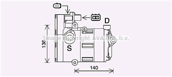 Compresseur AVA QUALITY COOLING AIK419 (X1)