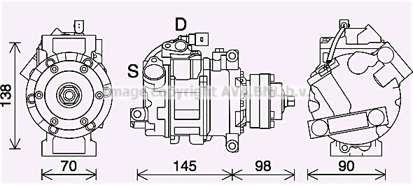 Compresseur AVA QUALITY COOLING AIK423 (X1)