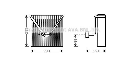 Evaporateur AVA QUALITY COOLING AIV022 (X1)