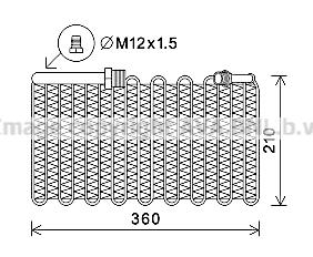 Evaporateur AVA QUALITY COOLING AIV355 (X1)